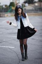 Forever 21 vest - vintage dress - Forever 21 top