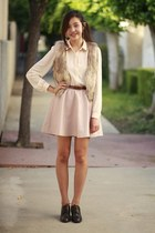 nude H&M skirt - tan H&M vest - peach Forever 21 top