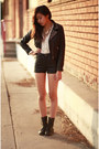 Black-h-m-jacket-black-h-m-shorts-white-sway-top