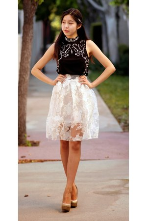 cream OASAP skirt
