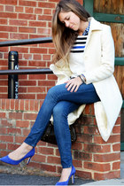 ivory Ninewest jacket - blue Gap shirt - blue Jcrew pumps