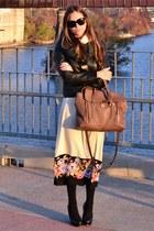 black vince jacket - eggshell Sonia Rykiel dress - black 31 Phillip Lim pumps