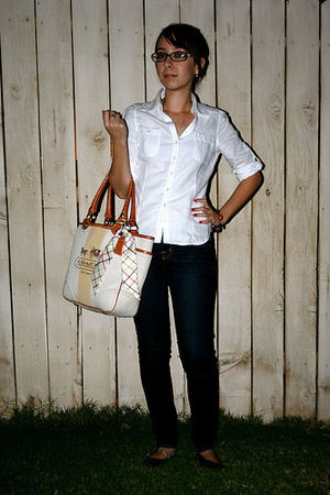 forever 21 blouse - J Brand jeans - coach purse
