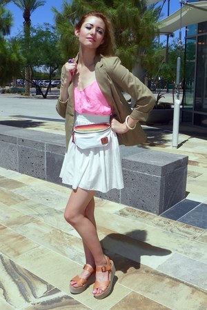 fanny pack Roxy bag - bronze Urban Outfitters shoes - tan Target blazer