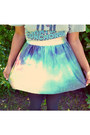 Band-shirt-shirt-galaxy-a-line-oasap-skirt