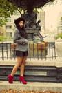 Grey-peacoat-h-m-jacket-circle-skirt-american-apparel-skirt
