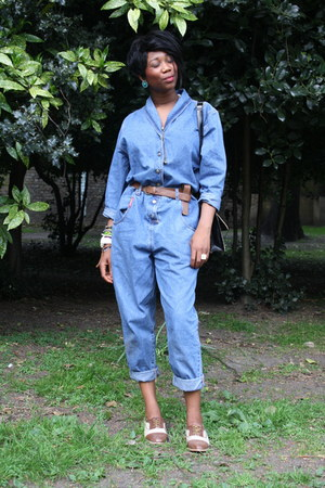 denim 21st century retro bodysuit - brogues Primark shoes