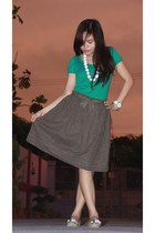 skirt - Kamiseta blouse - potato SO Fab flats