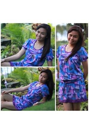 purple tailored dress