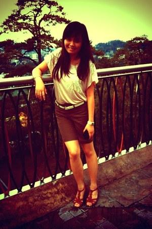 kashieca shorts - Bayo blouse - Celine sandals - DKNY watch