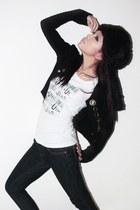 black Camp John Hay hat - Rider Jeans blouse - Sparkle Shop blazer - Sparkle Sho