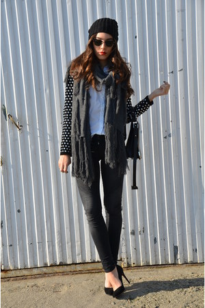 Zara jacket - Mango hat - Zara heels