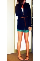 The Edinburgh Collection sweater - belt - forever 21 shorts - forever 21 shoes