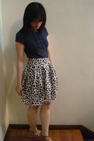Topshop shirt - Ruth & Esther skirt