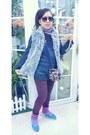 Amethyst-purple-cotton-on-leggings-navy-pattern-carlo-fashion-bag