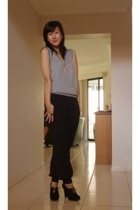 Valley Girl vest - Dotti pants - Nine West shoes