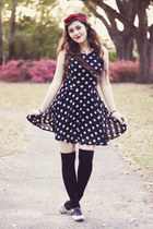 black polka dot Papaya clothing dress