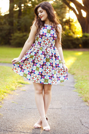 white stained glass modcloth dress