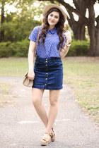 periwinkle polka dot Forever 21 blouse