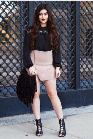 black lace Little Mistress top