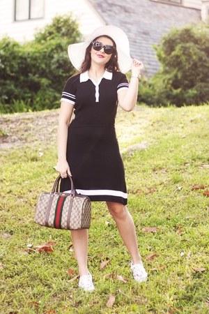 black knit polo Design History dress - white eyelet berry Keds sneakers