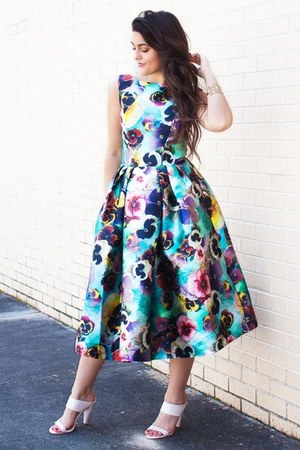 sky blue floral Chi Chi clothing dress