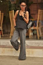 Gucci bag - black sm dept store top - Esprit pants