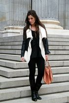 black GINA TRICOT leggings - yellow Zara cardigan - black Parfois shoes - black