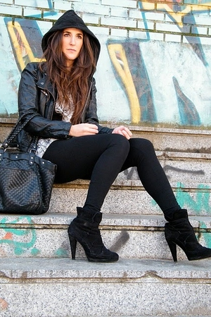 black Zara boots - black Misako pants - American Apparel top