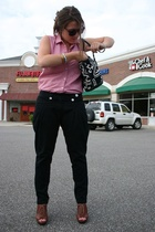 H&M pants - moms closet shirt - Steve Madden shoes
