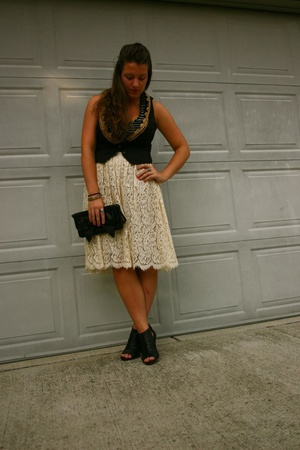 Wyeth skirt - Zara vest - Steven by Steve Madden shoes - Target shirt