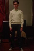 Van Cort sweater - Express Design Studio shirt - Levis jeans - Chuck Taylor All