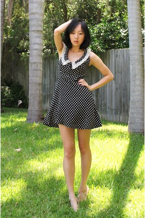 polka dot subtitled dress