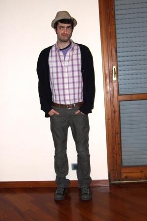 DSquared t-shirt - H&M jacket - vintage shirt - versace belt - H&M pants - Conve