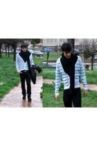 roberto cavalli pants - Burberry belt - H&M scarf - H&M - TODs shoes - Zara jack