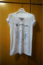 white b loves you beckybwardrobe t-shirt