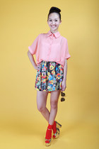 salmon beckybwardrobe blouse