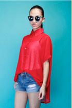 red beckybwardrobe blouse