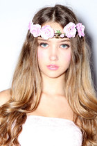 light pink rose crown beckybwardrobe accessories