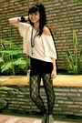 Beige-h-m-top-black-skirt-gray-topshop-lace-leggings-brown-h-m-leopard-pri