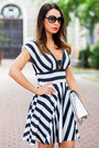 Black-striped-love-dress-white-leather-zara-bag
