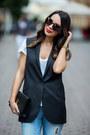 Black-zara-coat-sky-blue-zara-jeans-black-yves-saint-laurent-bag