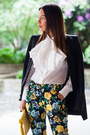 Ivory-asos-shirt-black-studio-zara-blazer-yellow-clutch-bershka-bag