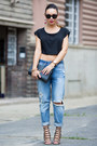 Black-clutch-yves-saint-laurent-bag-sky-blue-boyfriend-jeans-h-m-jacket