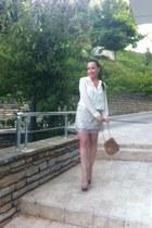 Zara skirt - Uterque bag - Jessica Simpson sandals - Zara blouse