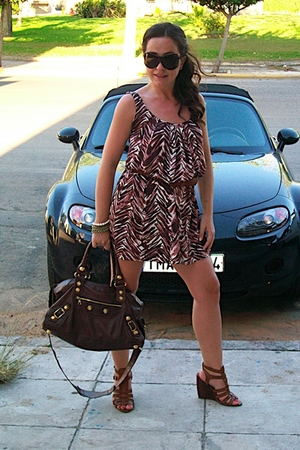 balenciaga purse - Nine West shoes