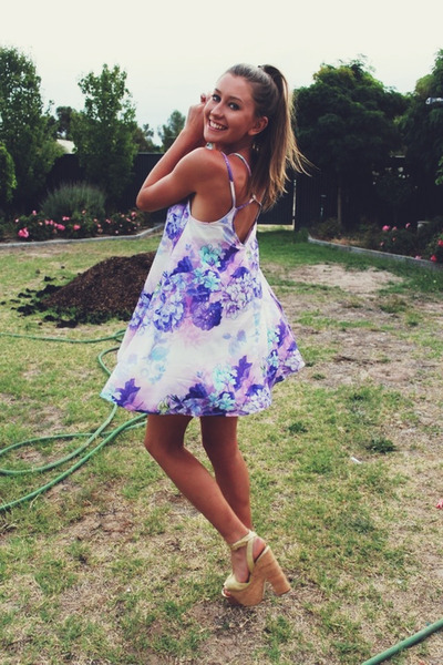 periwinkle flow loose loving things dress