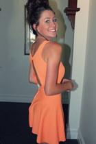 orange stretch DIY dress