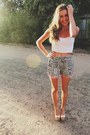 Black-pom-pom-hem-ids-shorts-white-crop-singlet-cotton-on-top