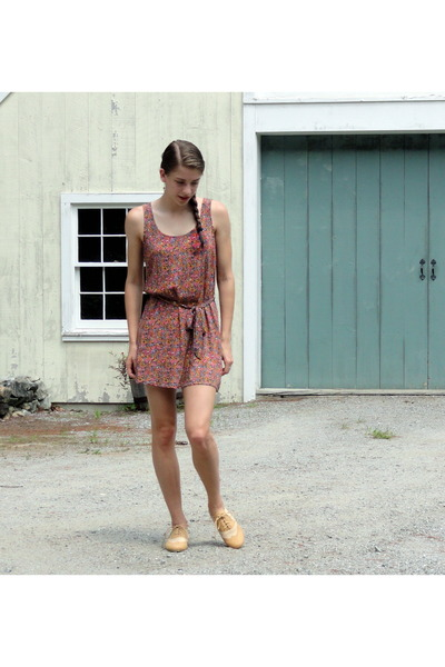 Floral H&m Dress Beige Lace